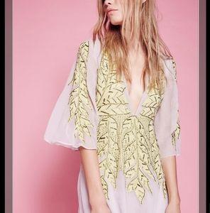 Free People Songbird Embellished Mini Dress
